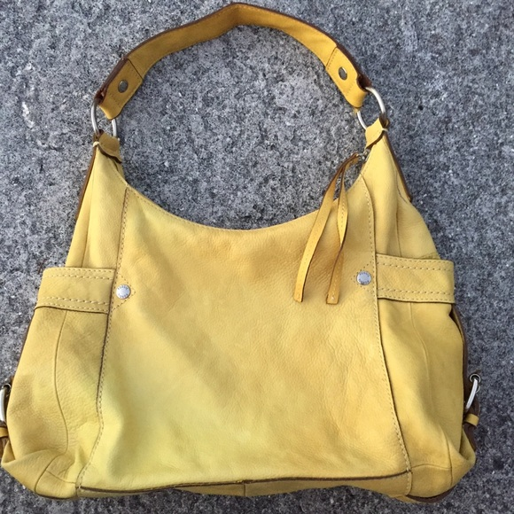Fossil Bags | Soft Yellow Leather Satchel